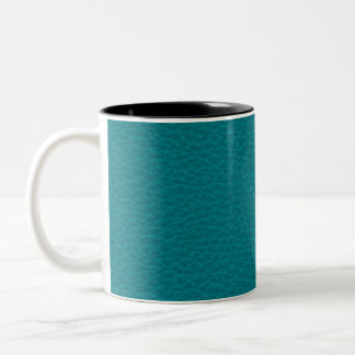 Picture of Teal Leather. Two-Tone Coffee Mug