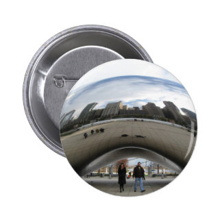 Picture of the Bean in Millennium Park Pin