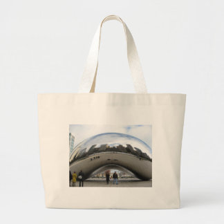 Picture of the Bean in Millennium Park Large Tote Bag