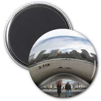 Picture of the Bean in Millennium Park Magnet