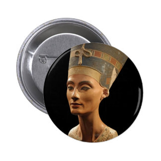 Picture of the Nefertiti Bust in Neues Museum Pinback Button