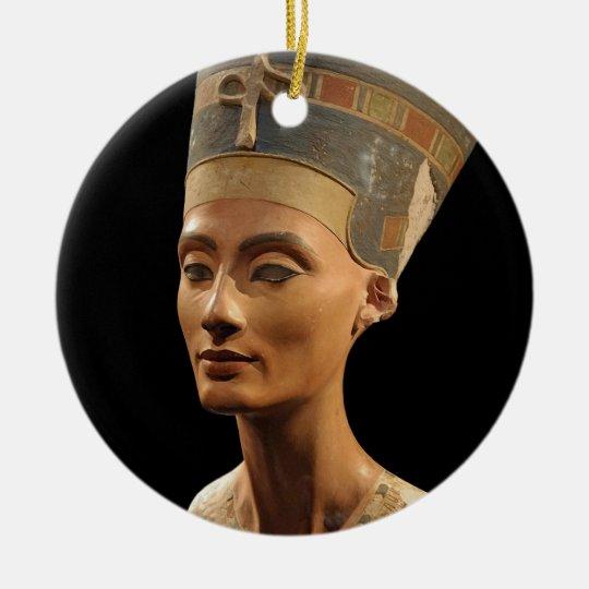 Picture of the Nefertiti Bust in Neues Museum Ceramic Ornament