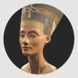 Picture of the Nefertiti Bust in Neues Museum Classic Round Sticker