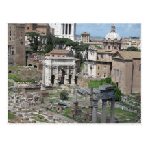 Picture of the Roman Forum Postcard