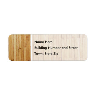 Picture of Varnished Pieces of Wood Label
