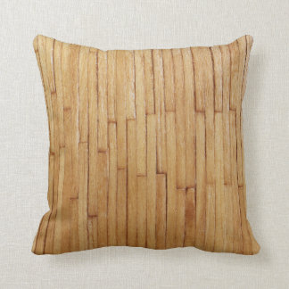 Picture of Varnished Pieces of Wood Throw Pillow