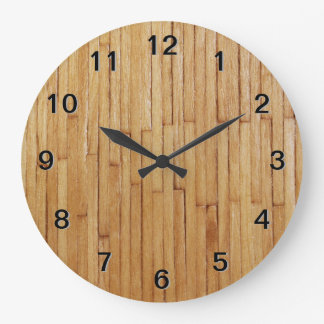 Picture of Varnished Pieces of Wood Wallclock