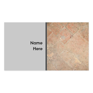 Picture of Vintage Weathered Old tiles. Double-Sided Standard Business Cards (Pack Of 100)