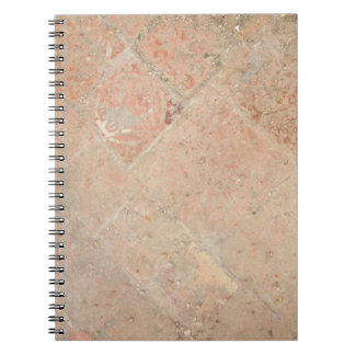 Picture of Vintage Weathered Old tiles. Spiral Note Book