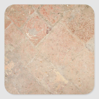 Picture of Vintage Weathered Old tiles. Square Sticker