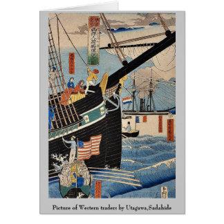 Picture of Western traders by Utagawa,Sadahide Card