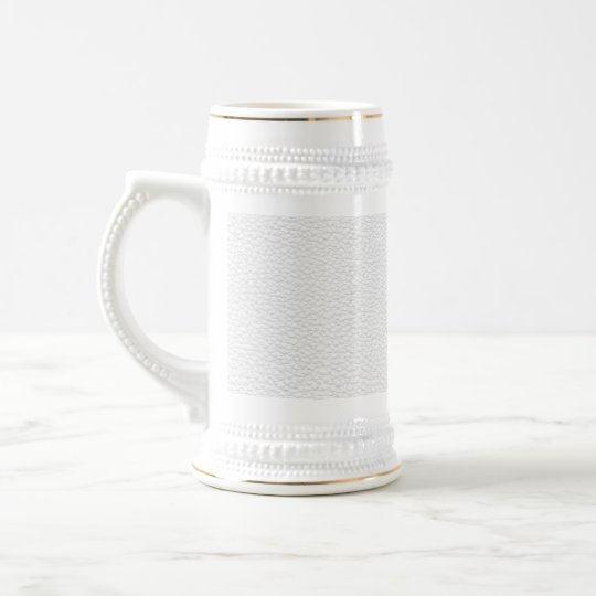 Picture of White Leather. Beer Stein