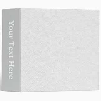 Picture of White Leather. Binder