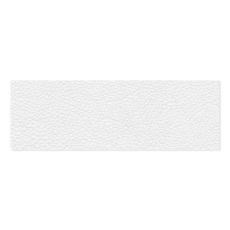 Picture of White Leather. Double-Sided Mini Business Cards (Pack Of 20)