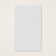 Picture Of White Leather. Business Card at Zazzle