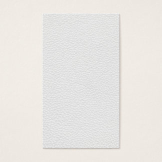 Picture of White Leather. Business Card