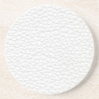 Picture of White Leather. Beverage Coasters