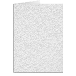 Picture of White Leather. Greeting Card