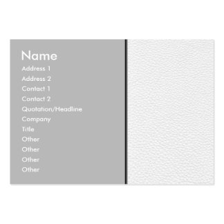 Picture of White Leather. Large Business Card