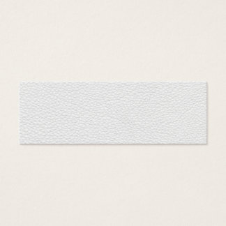 Picture of White Leather. Mini Business Card