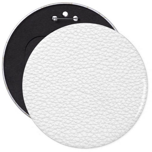 Picture of White Leather. Pinback Buttons