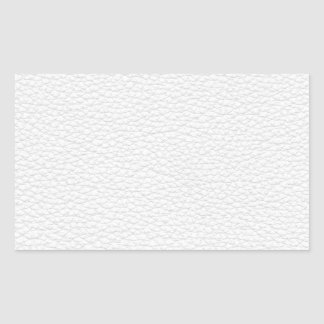 Picture of White Leather. Rectangular Sticker