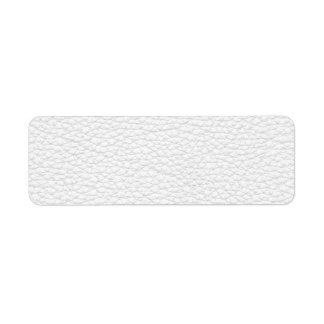 Picture of White Leather. Return Address Label