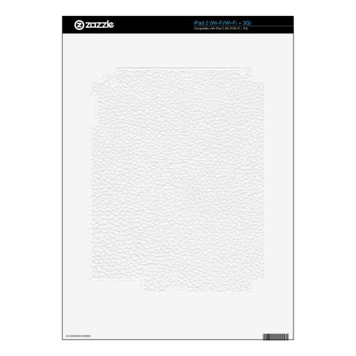 Picture of White Leather. Skin For iPad 2