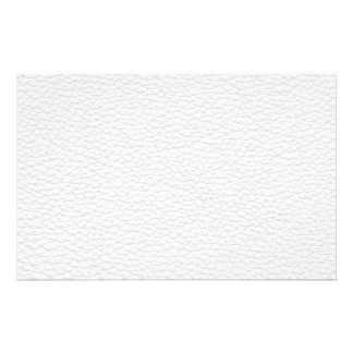 Picture of White Leather. Stationery