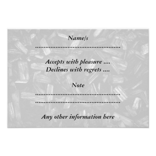 Picture of wood pieces in black and white. invitations