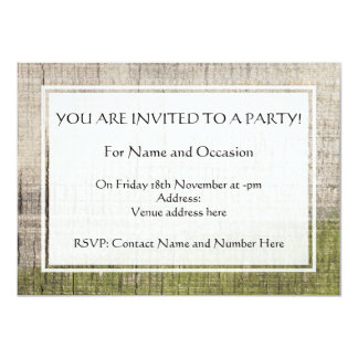 """Picture of Wood with Green Algae. 4.5"""" X 6.25"""" Invitation Card"""