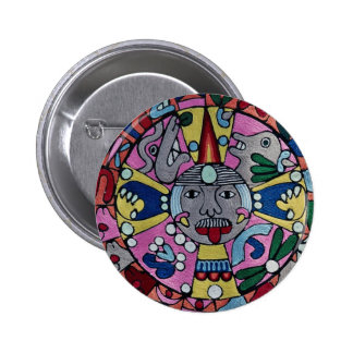 Picture of Woven cloth, Mexican design, Cuernavaca 2 Inch Round Button