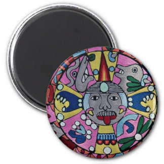 Picture of Woven cloth, Mexican design, Cuernavaca 2 Inch Round Magnet