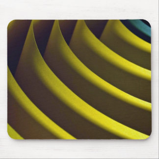 Picture of Yellow and green abstract shape Mouse Pad