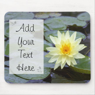 Picture of Yellow Lily, Nature Quotes Mouse Pad