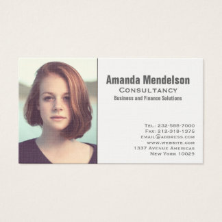 Picture or logo business card