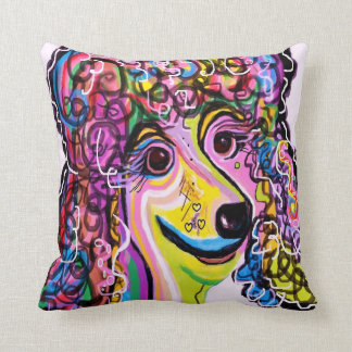 Picture Perfect Poodle Throw Pillow