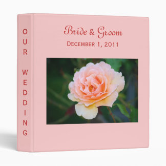 Picture Perfect Rose Wedding Binder