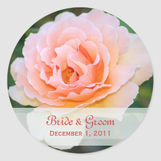 Picture Perfect Rose Wedding Stickers