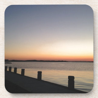 Picture Perfect Sunset Lake Beverage Coaster
