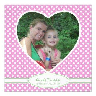 Picture: Polka-dot Birthday Invitations