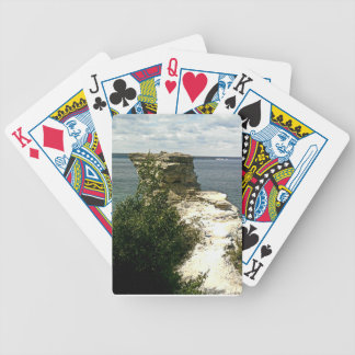 Picture rocks bicycle playing cards