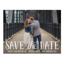 Picture Save The Date Postcard, Horizontal Picture Postcard