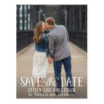 Picture Save The Date Postcard, Vertical Picture Postcard
