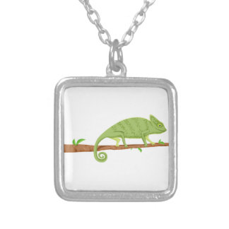 Picture Template Silver Plated Necklace