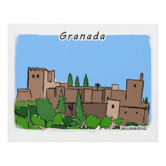 Picture the Alhambra, Granada, Spain Panel Wall Art