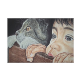 picture the pencil and chalk realistic pastel canvas print