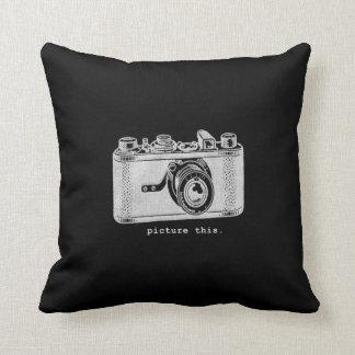 Picture This Vintage Retro Camera Throw Pillow
