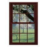 Picture Window Landscape - Cherry Blossoms. Poster