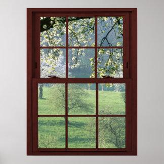 Picture Window Landscape - Cherry Blossoms Poster